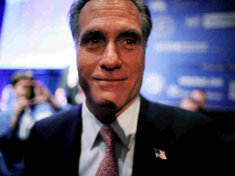 Former Massachusetts Gov. Mitt Romney greets supporters after addressing the Conservative Political Action Conference. Romney is one of a handful of GOP maybe-candidates for the 2012 presidential elections.