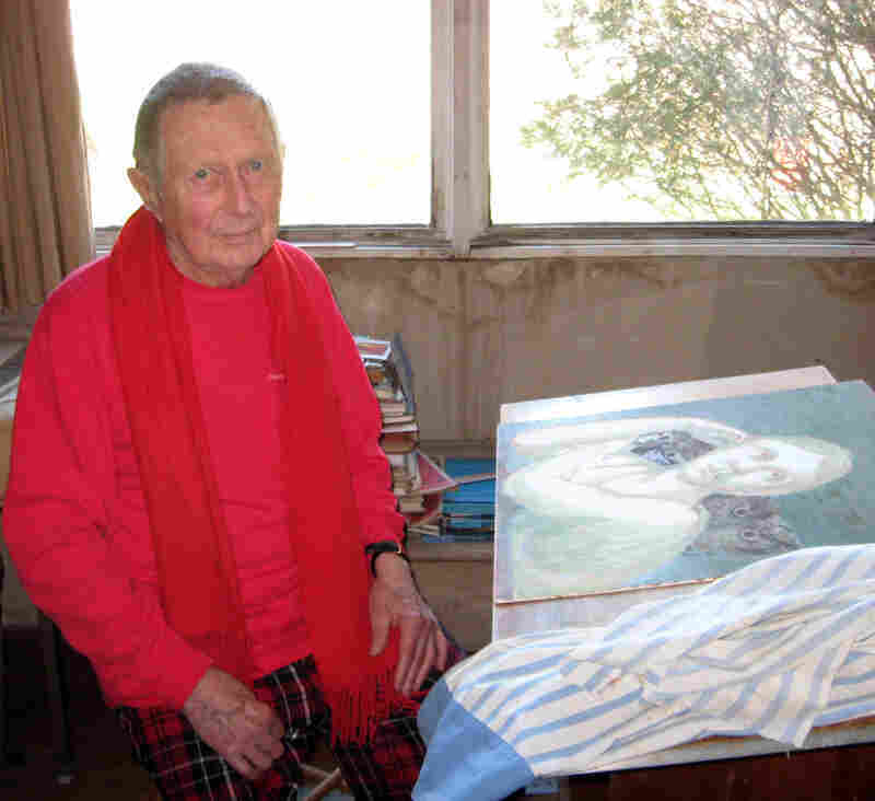 Tooker, pictured in his studio in 2009, painted right up until the end of his life.