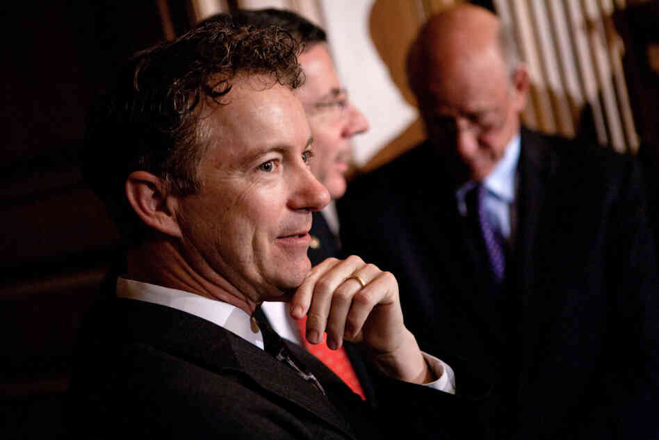 Republican Sen. Rand Paul of Kentucky sharply criticized the Obama administration's decision to intervene in Libya.