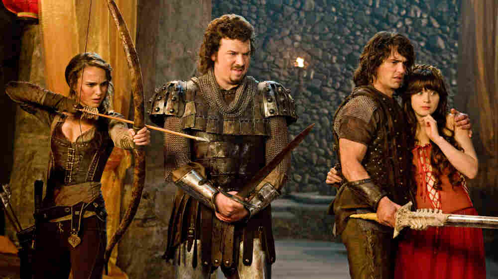 Rated X-tra-naughty: Natalie Portman, Danny McBride, James Franco and Zooey Deschanel star in a medieval sword-and-sorcery spoof that strays often into beyond-kinky territory — and plays it so resolutely straight that the profane seems downright divine.