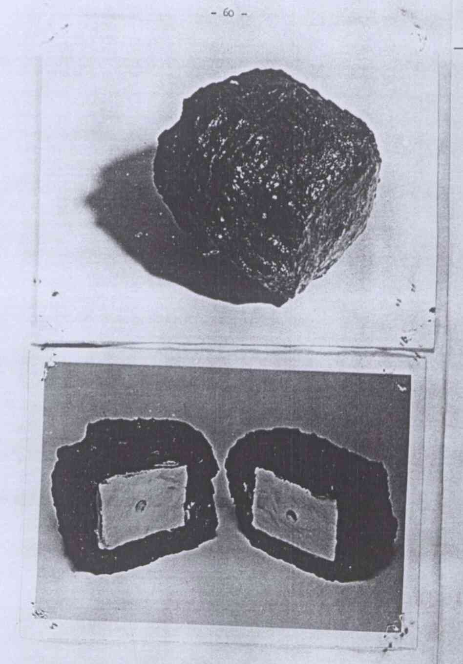 A bomb camouflaged as a lump of coal.
