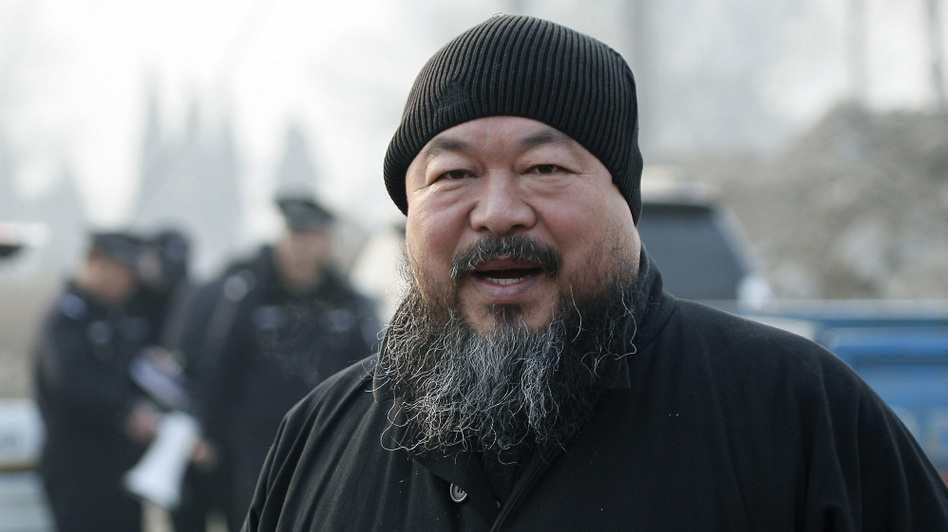 Ai Weiwei is a prolific tweeter – including  tweeting the three occasions last week police visited his Beijing studio,  complete with photos (AP)