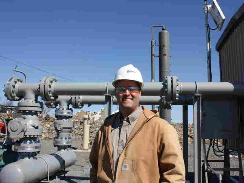 Michael Dickinson, a manager for Williams Companies Inc., visits the Lathrop compressor station near Wilkes-Barre, Pa. The facility helps to move natural gas from local wells to market.
