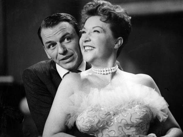 Ethel Merman (right) and Frank Sinatra's lack of chemistry added to the unintentional comedy in their 1954 live, televised performance of <em>Anything Goes</em>.