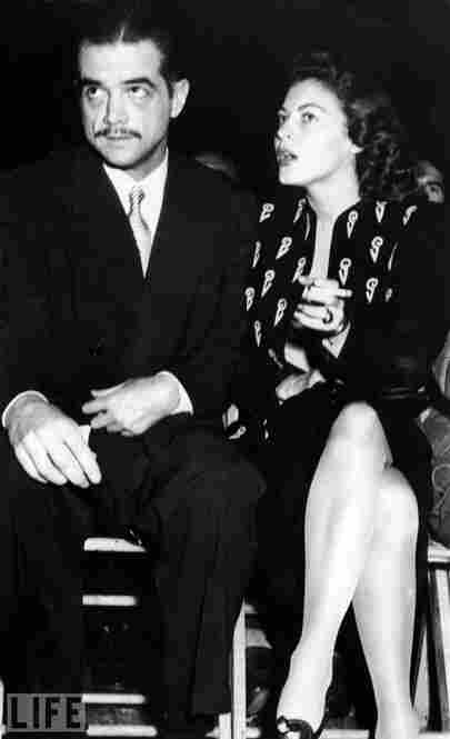 Seen here with Ava Gardner, Hughes was romantically linked through the years, in fact and in rumor, with the likes of Bette Davis, Katharine Hepburn, Paulette Goddard, Hedy Lamar, Lana Turner and Gene Tierney.