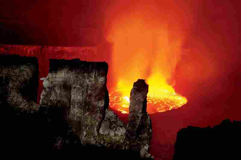 """""""Cradling one of the world's largest and least studied lava lakes — more than 700 feet across and possibly miles deep — Nyiragongo has twice sent molten rock racing toward residents of Goma."""""""
