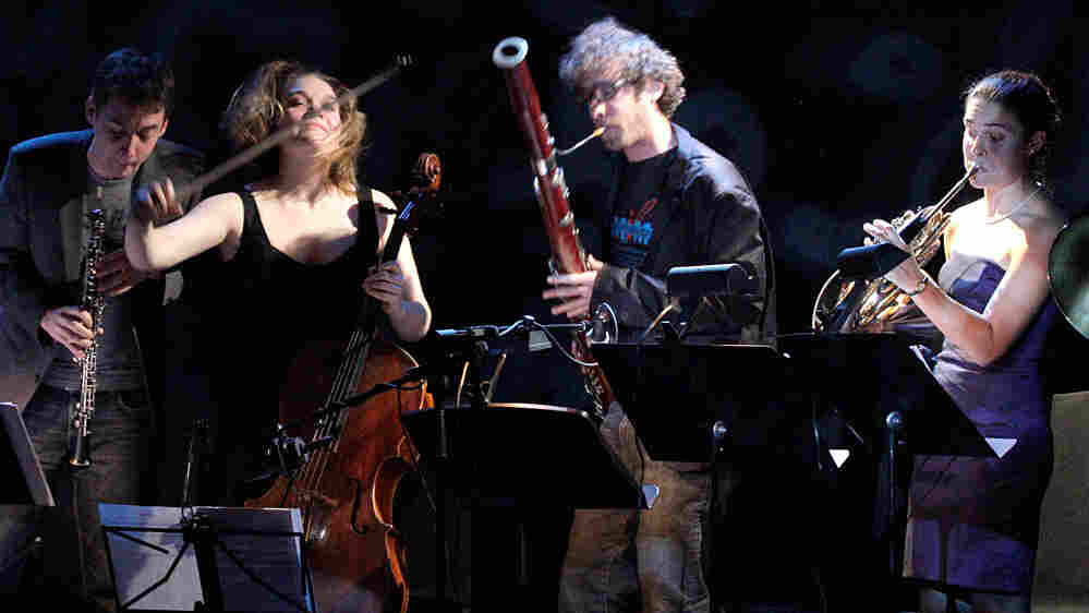 """Members of Ensemble ACJW take part in """"Trout Week,"""" a series of chamber music concerts live from the Greene Space in New York."""