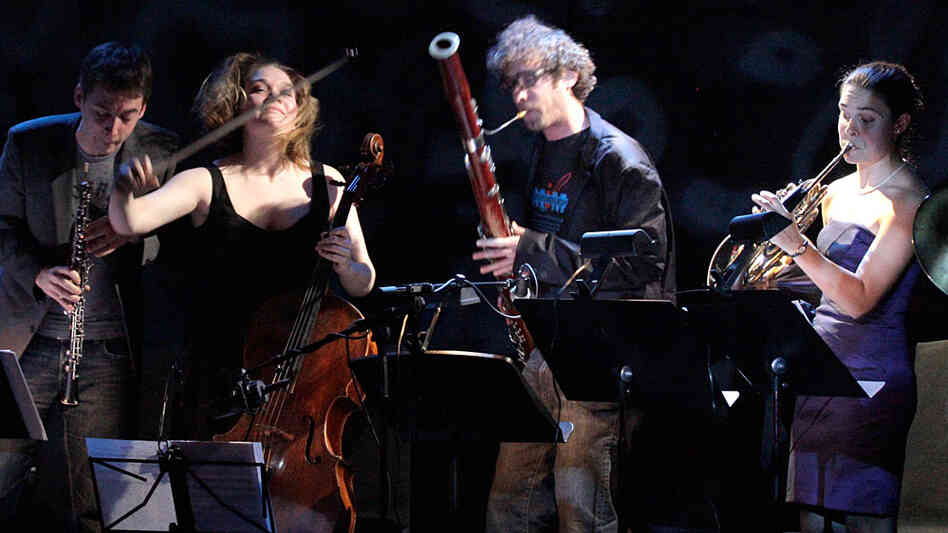 "Members of Ensemble ACJW take part in ""Trout Week,"" a series of chamber music concerts live from the Greene Space in New York."
