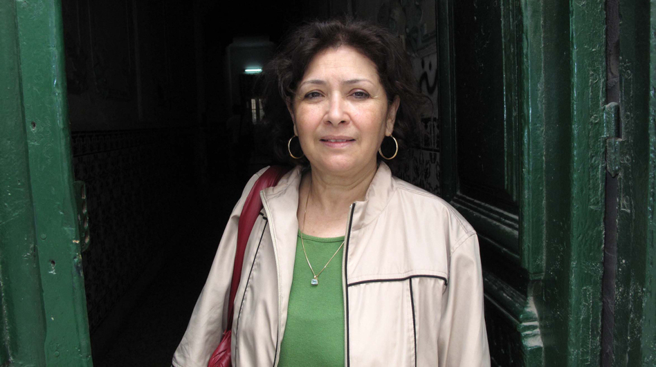 "Sihem Bensedrine, activist and the force behind Tunisia's independent Internet radio station, Kalima (""the word"")."