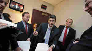 The CBO says House Budget Committee Chairman Paul Ryan's plan for Medicare could lead to health care rationing. Ryan is shown here with Republican members of his committee on Capitol Hill, April 5, 2011.