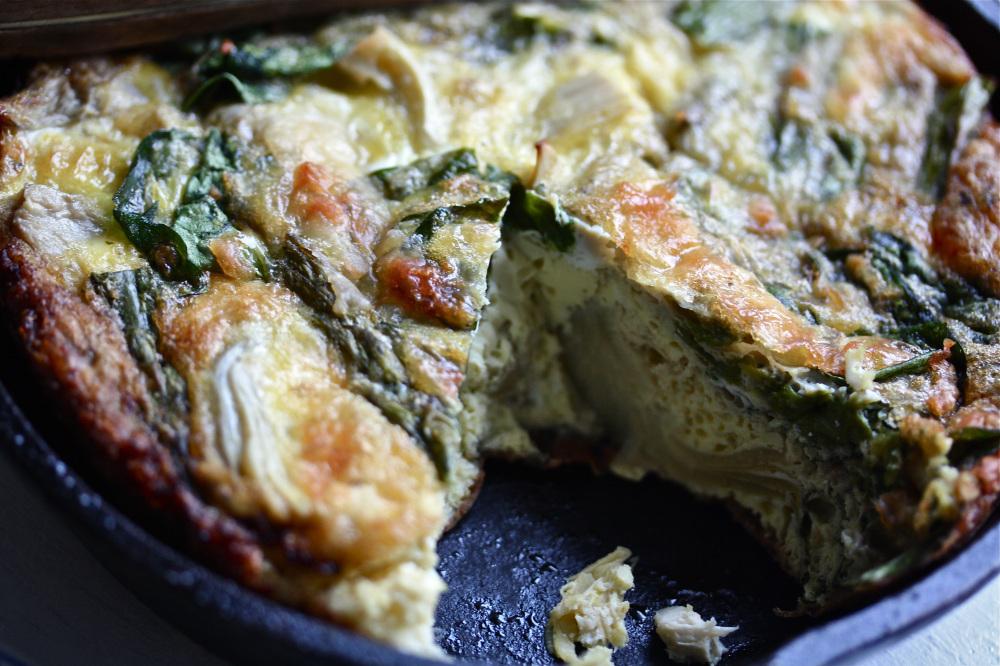 Recipe: Artichoke-Asparagus Frittata : NPR