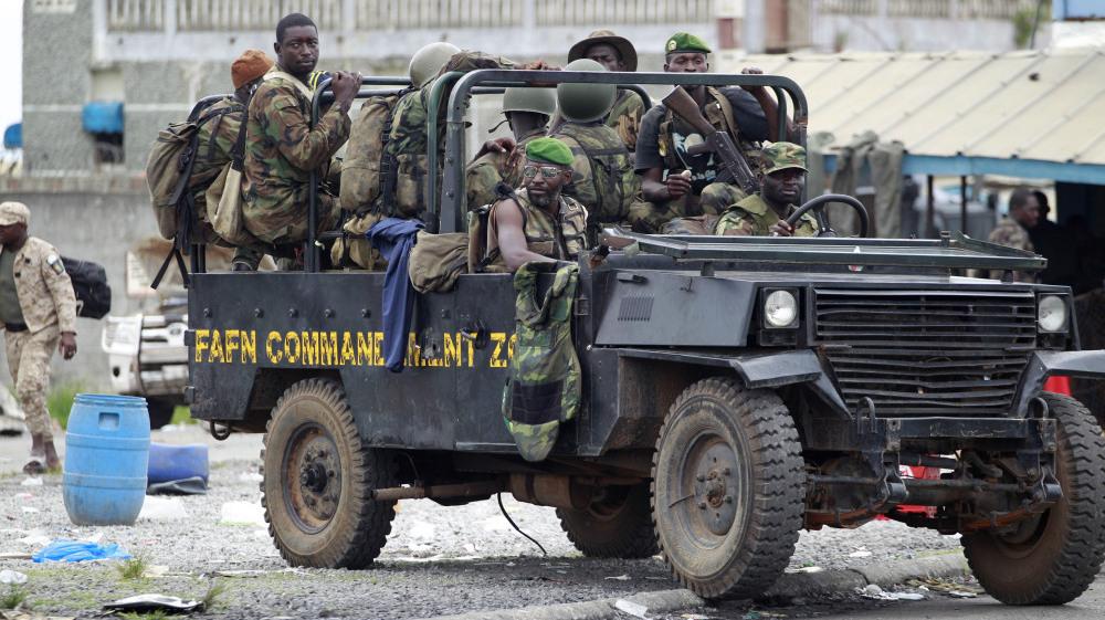 Ivorian Strongman's Supporters...