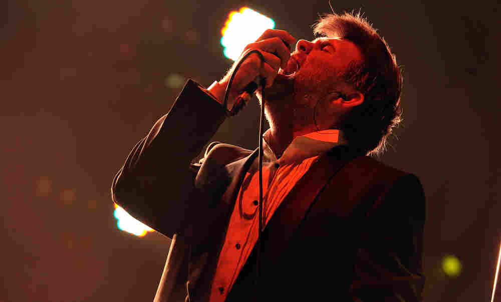 LCD Soundsystem's James Murphy performs at his band's farewell concert at Madison Square Garden on April 2, 2011 in New York City.