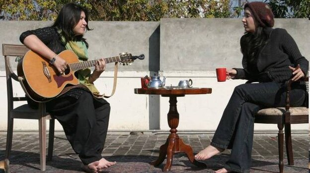 Haniya Aslam (left) and Zeb Bangash have won critical acclaim in Pakistan, where female musicians face challenges simply because they're women.