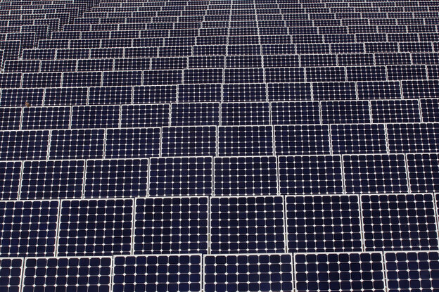 A 10-megawatt facility of solar photovoltaic panels in Chicago.