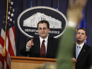 Associate Attorney General Tom Perrelli fields questions during a 2009 news conference about Pfizer agreeing to pay $2.3 billion in penalties over unlawful prescription drug promotion.