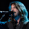 "Dave Grohl on stage with the Foo Fighters at the Grammy Awards in 2008. ""The first time I ever went to a big concert it freaked me out,"" Grohl says. ""[I thought,] this is insane."""