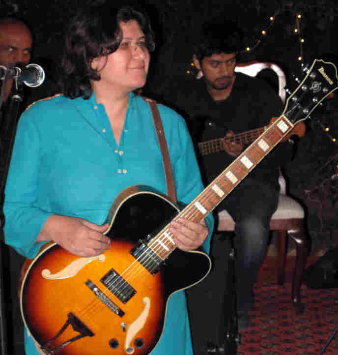 """Haniya Aslam writes original songs and performs ones she and Zeb learned as  children when musicians from across the region would gather at their  grandmother's home in Peshawar. Despite the turmoil in Pakistan, Haniya is optimistic about  the future, saying, """"I have to be. Absolutely, I am."""""""