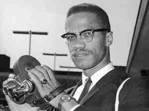 Malcolm X in London, England in 1964, shortly after breaking with the Nation of Islam. He was on his way to Egypt after forming the Organization of Afro-American Unity.