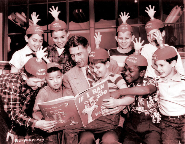 Dr. Seuss reads to the cast of imprisoned, piano-playing boys in the 5,000 Fingers of Dr. T.
