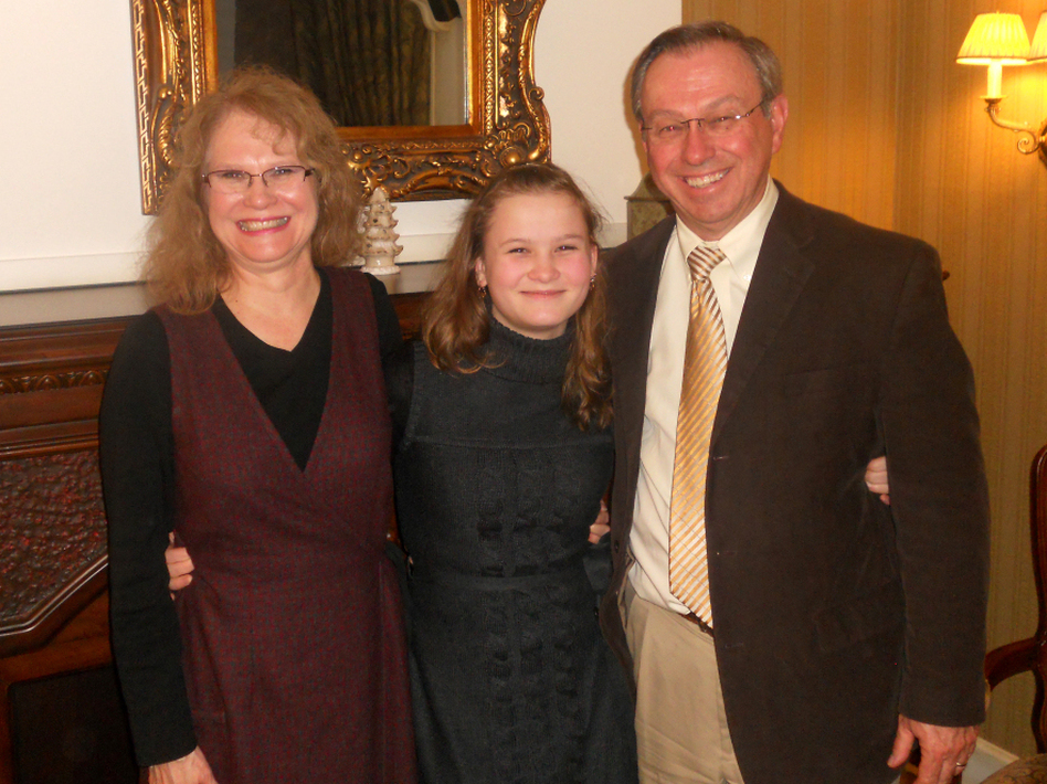 Anastasia (middle) was adopted from Russia by the Tomlinsons of Tennessee last year, but her placement was very nearly ruined by the uproar created when an American mother sent her newly adopted son back to Moscow. (Courtesy of the Tomlinsons)