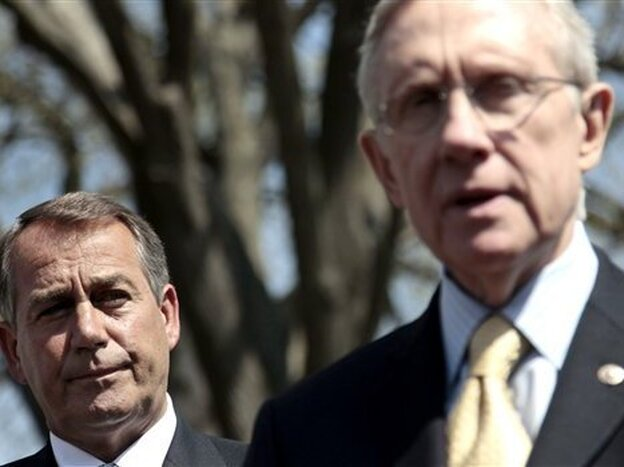 House Speaker John Boehner and Senate Majority Leader Harry Reid's conflicting versions of what's behind the impasse may not be so at odds after all. (AP)