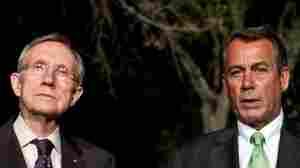 They don't see eye-to-eye: Senate Majority Leader Harry Reid (D-NV), at left, and House Speaker John Boehner (R-OH), at the White House on Wednesday.