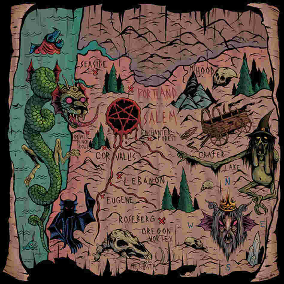 The artwork for Witch Mountain's South of Salem, featuring a drawing by Skinner and colors by Jason Lewis.