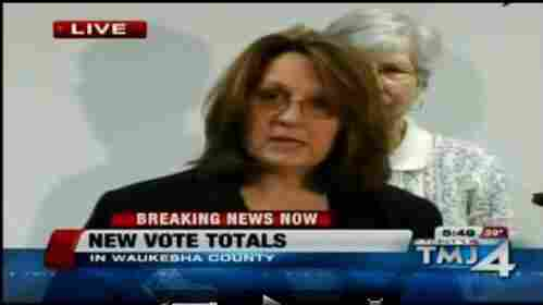 Waukesha County (Wis.) Clerk Kathy Nickolaus, as she explained the mistake Thursday (April 7, 2011).