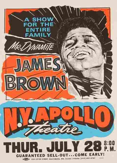 A James Brown poster, reprint 1995.
