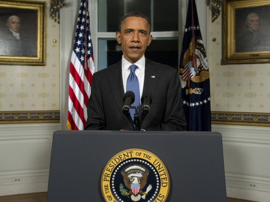 President Obama announced an agreement Friday night to cut the budget and avoid a partial shutdown of the federal government. (Saul Loeb/AFP/Getty Images)