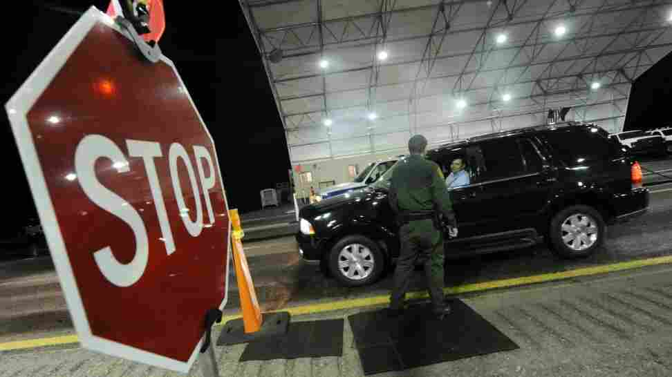A U.S. Border Patrol agent checked vehicles arriving from Mexico near the town of Nogales ion July 28, 2010.
