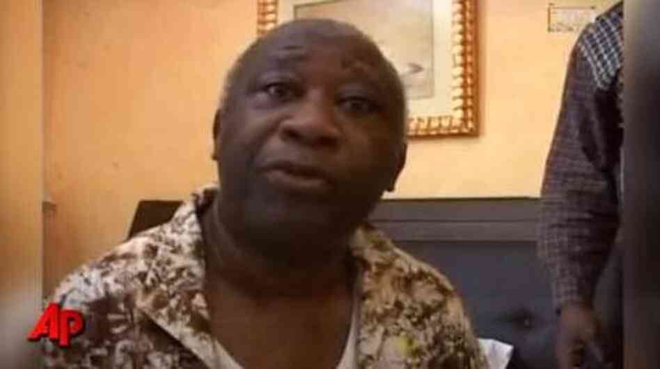 Laurent Gbagbo, after being taken into custody.