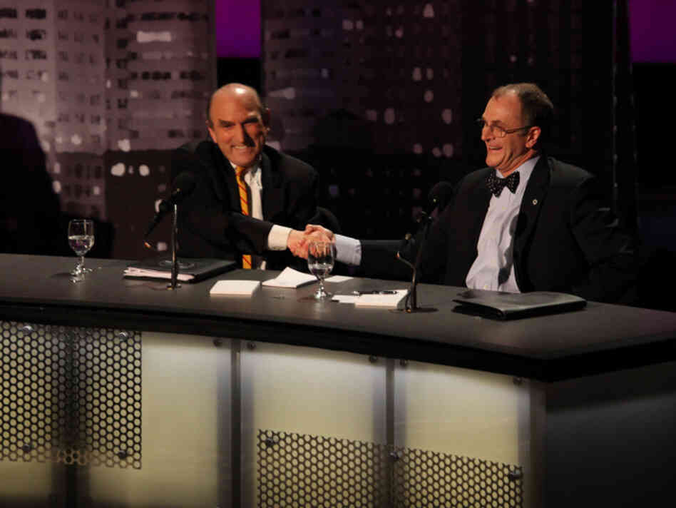 "Elliott Abrams and Eliot Cohen argued against the motion ""It's Time To Clip America's Global Wings"" during an Intelligence Squared U.S. debate at New York University's Skirball Center for the Performing Arts on April 5."