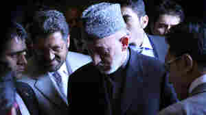 Afghanistan President Hamid Karzai attends the inauguration of the Afghan academic year in Kabul on March 23.
