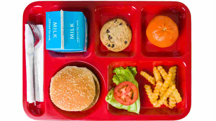 A school lunch is the only option at one Chicago school.