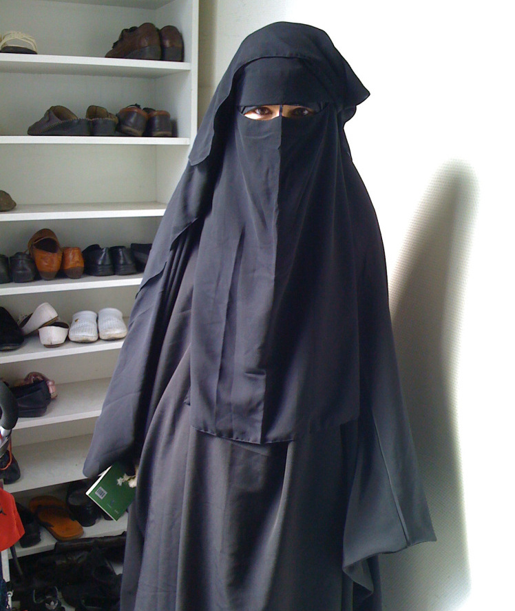 how to wear niqab with stole