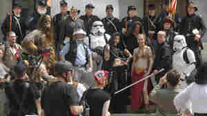 Civil War re-enactors and Star Wars fans at the Ohio Statehouse on Sunday (April 10 , 2011).