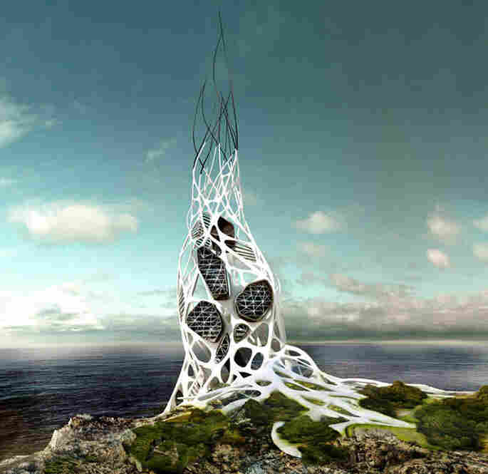 The Hydra skyscraper design investigates the possibility of creating a power plant that uses hydrogen as a source of energy. Its exoskeleton is built from grapheme, the basic structural element of graphite and carbon. Grapheme has a high thermal and electric conductivity and is 200 times stronger than steel. The idea is to harvest energy from lightning storms and store the power in sever...