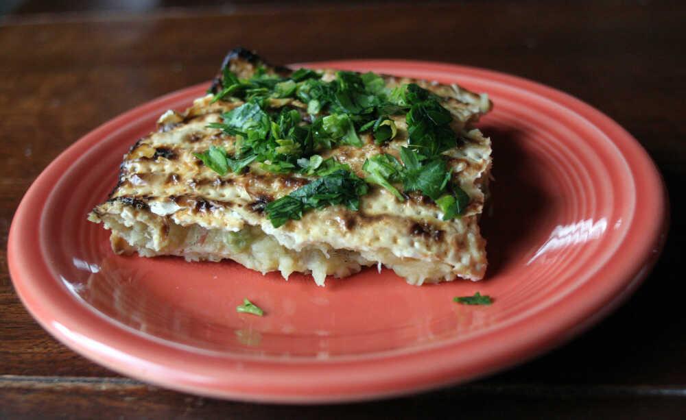Roman-Inspired Potato, Pea And Artichoke Filling With Gremolata