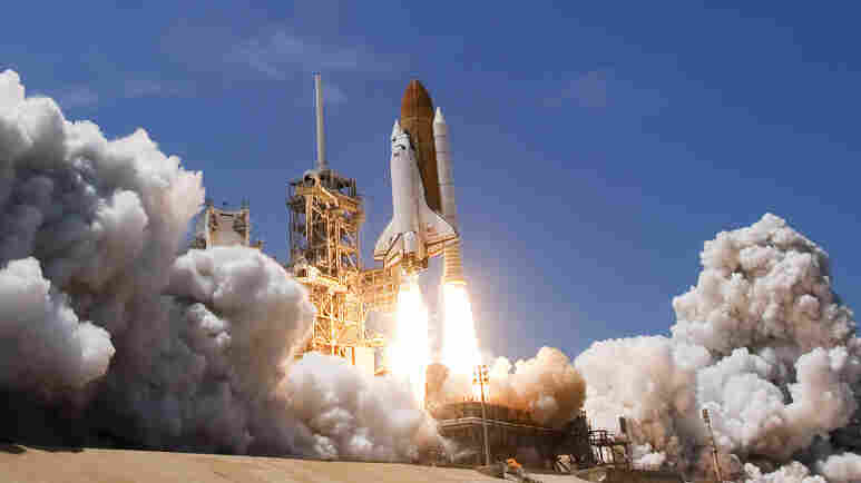 Space shuttle Atlantis lifts off from Kennedy Space Center on May 14, 2010, in Cape Canaveral, Fla.