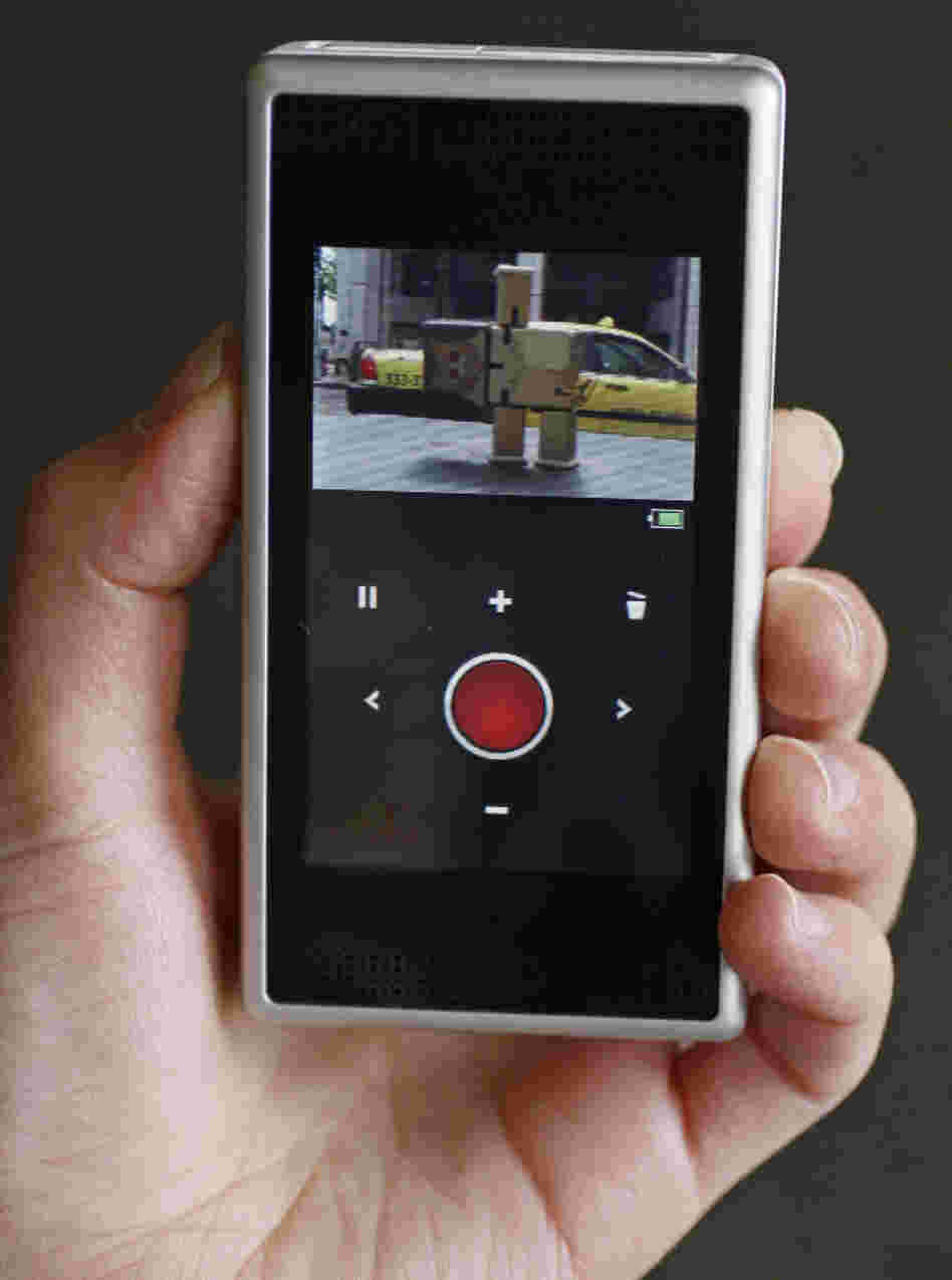 The Flip SlideHD pocket video camera.