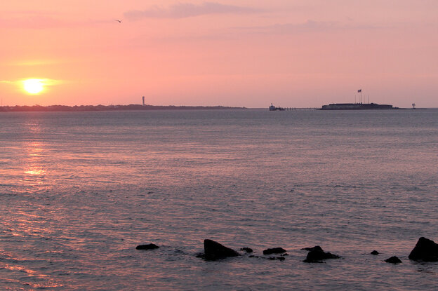 Fort Sumter in Charleston, S.C., where the first shots of the Civil War were fired.