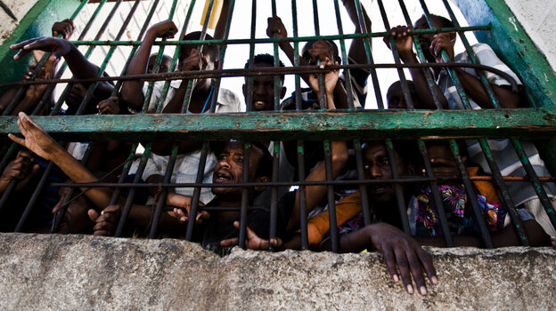 Other nations that catch Somali pirates are reluctant to send them back because  the prisons do not meet international standards. This prison in the coastal city  of Berbera, Somalia, dates to the 1880s, and inmates constantly complain about  conditions.