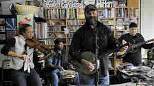 Otis Taylor performs a Tiny Desk Concert on February 1, 2010 at the NPR Music offices.