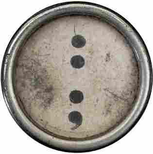 typewriter key