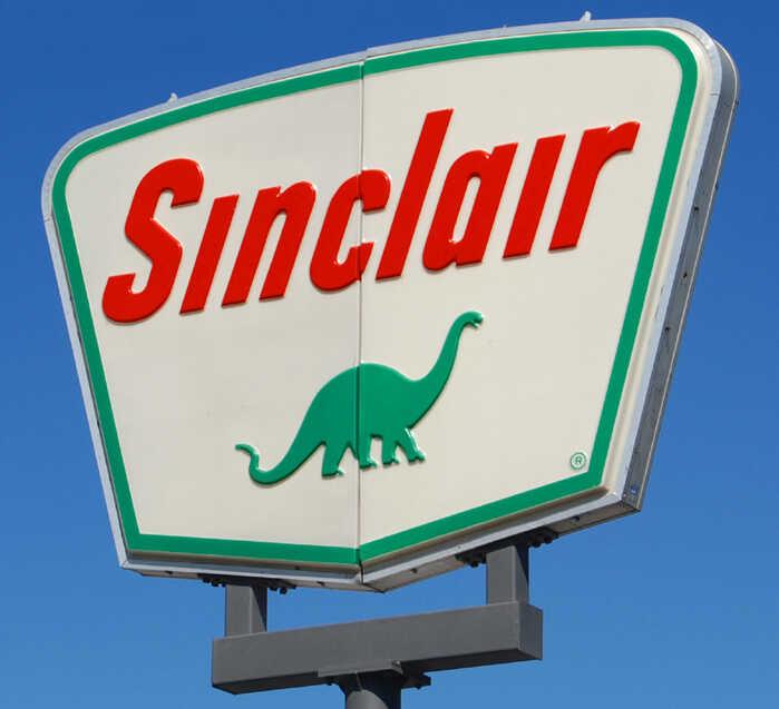 The Sinclair logo.