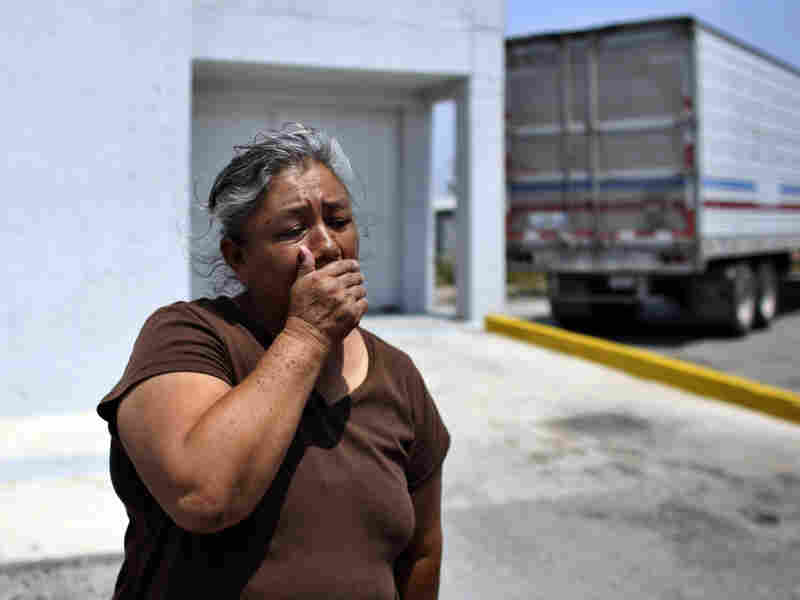 Juana Sanchez, 57, waits for news about her 38-year-old son, who has been  missing since May 2010, in front of the morgue in Matamoros, in the northern Mexican state of Tamaulipas, on Friday.