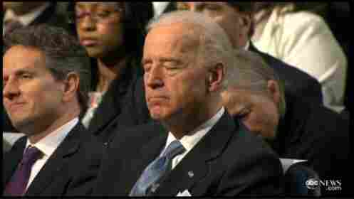Vice President Biden at today's speech by the president (April 13, 2011).