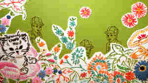 Maggy Rozycki Hiltner's Hothouse Flowers, made of found fabrics, is one of many works on display in the Textile Museum's Green: The Color and the Cause exhibit in Washington, D.C. Click here to see the full textile.